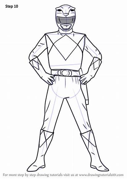 Draw Power Rangers Ranger Yellow Step Drawing