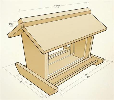 woodwork cedar bird feeders plans  plans