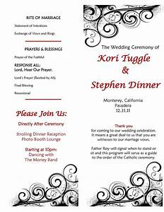 catholic wedding ceremony program sample make your own With catholic wedding ceremony program