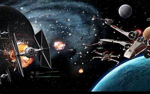 star wars Multi Monitor sci fi science battle death star ...
