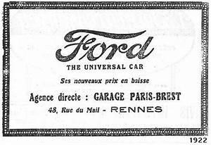 Ford Paris Brest : garage ford ford d 39 avant 1960 clubcara ford ~ Medecine-chirurgie-esthetiques.com Avis de Voitures