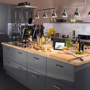 Meuble Cuisine Leroy Merlin : meuble de cuisine gris delinia rio leroy merlin ~ Melissatoandfro.com Idées de Décoration