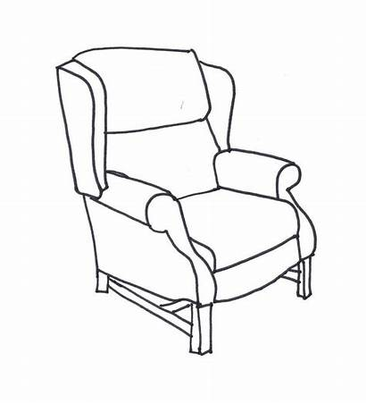 Chair Line Wing Drawing Chairs Coloring Drawings