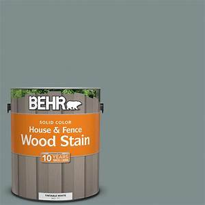 Behr 1 Gal Sc 125 Stonehedge Solid Color House And Fence