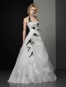 Robe De Mariée Noire : robe de mariee noire et blanc ~ Dallasstarsshop.com Idées de Décoration