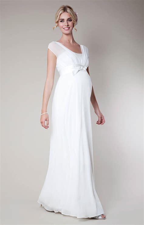 lily silk maternity wedding gown long ivory maternity wedding dresses evening wear