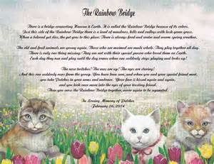 the rainbow bridge poem for cats poem about loss of a pet cat rainbow bridge 2016 car