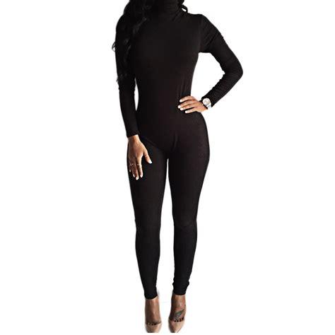 one jumpsuit womens 2016 arrival black bodysuit bodycon rompers