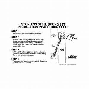Stainless Steel Gate Spring For Vinyl  Aluminum  And
