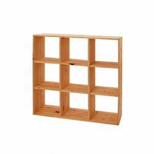 Etagère Design Pas Cher : etag re cube modulo 9 cases pin massif meubles en pin ~ Dailycaller-alerts.com Idées de Décoration