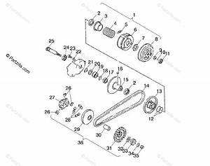 Polaris Atv 2001 Oem Parts Diagram For Drive Pulley