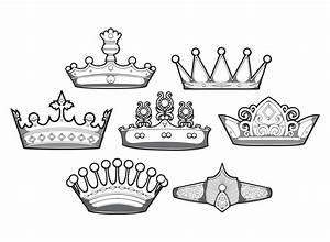 Design simple crowns vector set | Free download