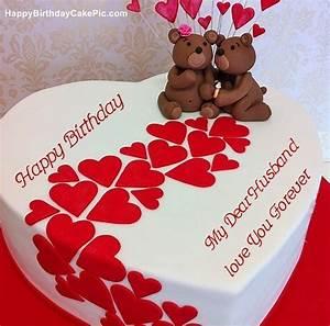 Heart Birthday Wish Cake For My Dear Husband