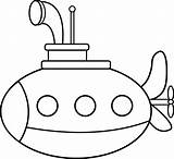 Submarine Coloring Clipart Sub Clip Pages Cartoon Submarines Cliparts Printable Craft Sheets Sweetclipart Drawing Colouring Line Vehicle Preschool Library Underwater sketch template