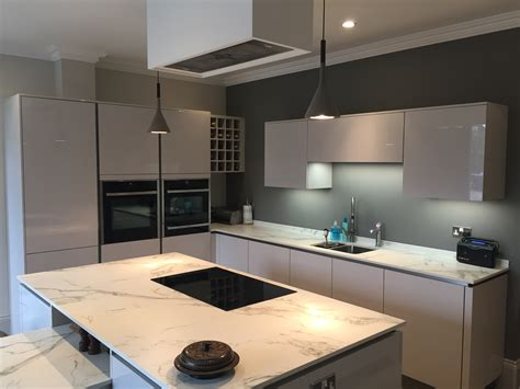 Hacker Kitchen Worktops by High Gloss German Kitchen With Dekton Worktops In Sheffield