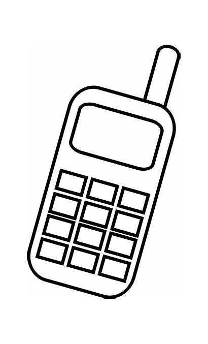 Phone Clip Cell Clipart Mobile Telephone Handy