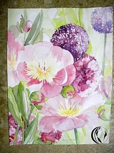 Aquarell Blumen Malen : blumen erfrischen die seele aquarell malen am meer ~ Frokenaadalensverden.com Haus und Dekorationen