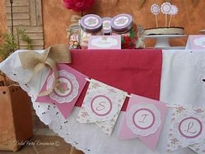 Mesa dulce con nuestra decoración personalizada shabby ...