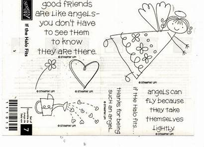 Halo Stampin Fits Stamps Unmounted Wooden Rubber