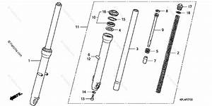 Honda Motorcycle 2008 Oem Parts Diagram For Front Fork