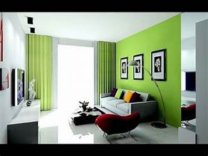 Idees decoration de salon en gris et vert youtube for Idees deco salon gris