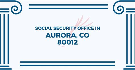 aurora social security office   jewell ave suite