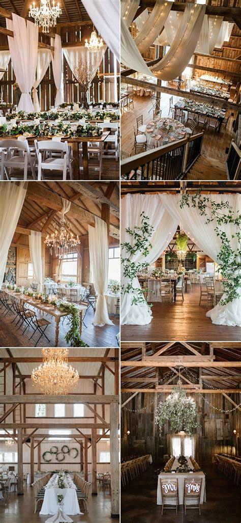 chic rustic barn wedding reception ideas