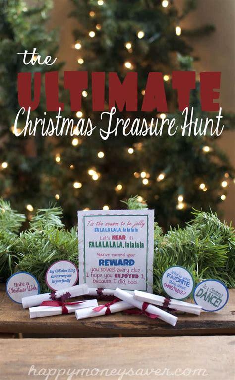 ultimate christmas treasure hunt  printable