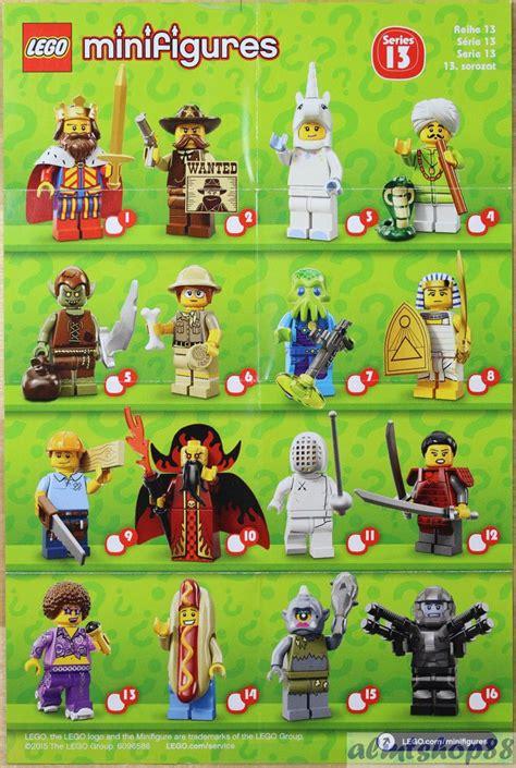 details about lego mini poster leaflet minifigures series