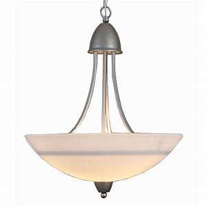 Country matte glass shade and iron pendant lighting