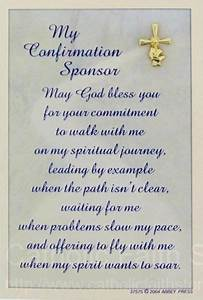 Confirmation Sponsor Pin And Card  24k Gold Plate  3  4 U0026quot H
