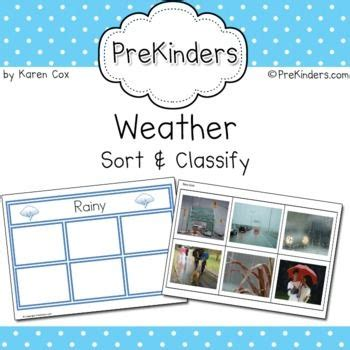 weather sort classify  images letter sound