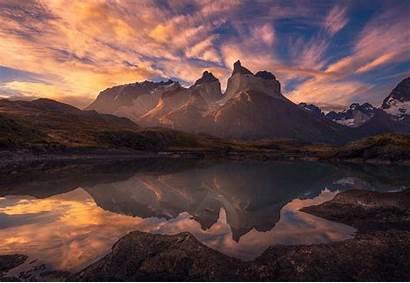 Patagonia Sunrise Chile Paine Torres Mountain Lake