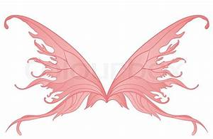 Pair of pink fairy wings | Stock Vector | Colourbox