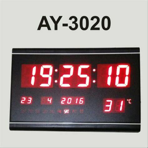 Jam Dinding Digital 2159 Merah jual jam dinding digital led ay 3020 jam digital led