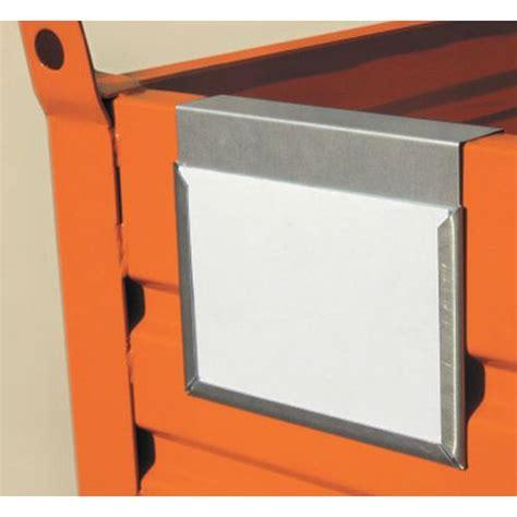porta etichette porta etichetta per cassa pallet in metallo manutan italia