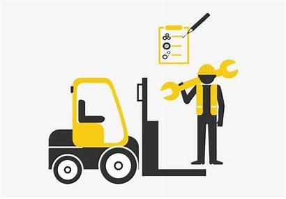 Forklift Maintenance Clipart Cartoon Manager Adalah Perawatan