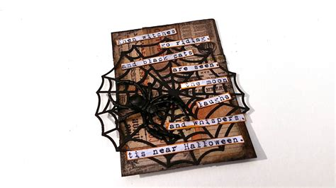 halloween artist trading card spider youtube