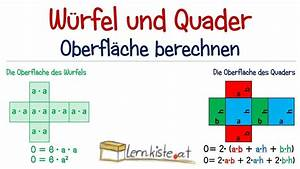 Quader Oberfläche Berechnen : w rfel und quader oberfl che berechnen youtube ~ Themetempest.com Abrechnung
