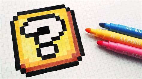 mari ferrari hello hello letra handmade pixel art how to draw a super mario block