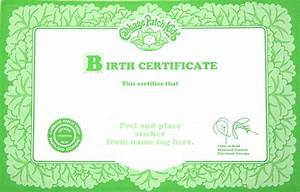cabbage patch kid ballerina pink tutu 1995 ebay With cabbage patch birth certificate template