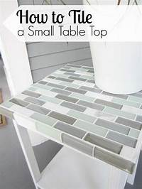 how to tile How to Tile a Small Table Top