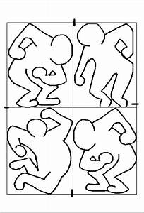keith haring paintings dryden art With keith haring figure templates