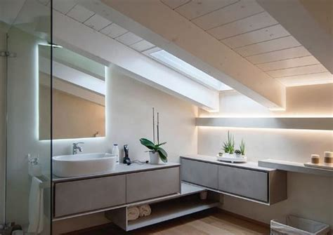 illuminazione led design illuminazione bagno con strisce led diffusa e
