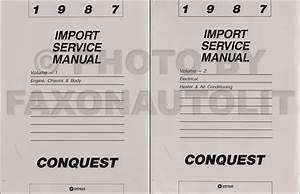 1987 Chrysler Conquest Repair Shop Manual Original 2