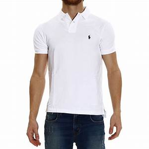 Polo ralph lauren Short Sleeve Smocking Slim Fit Polo T ...