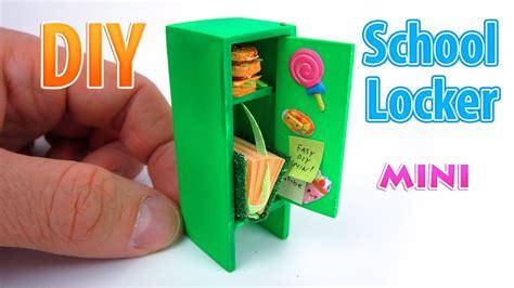 Diy Miniature Girl School Locker  Dollhouse  No Polymer