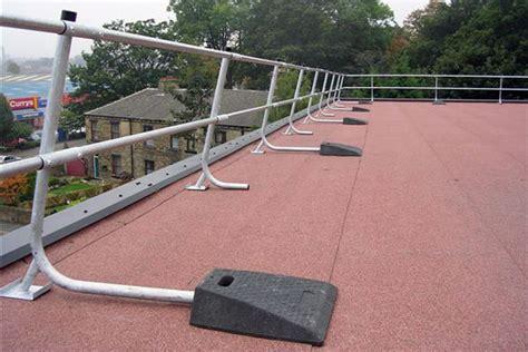 free standing roof edge protection guardrail bilco uk