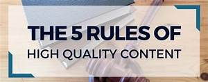 The 5 Rules of High Quality Content (Press Releases ...
