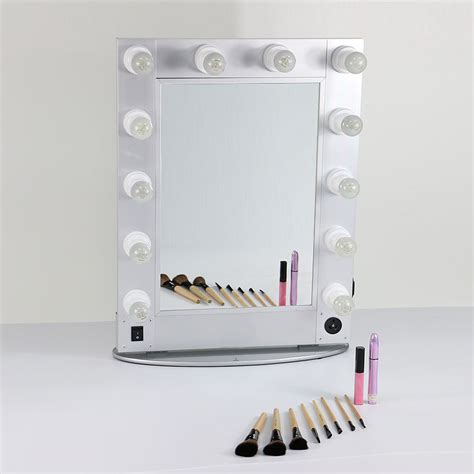 professional makeup mirror with lights silver and black style mirror professional